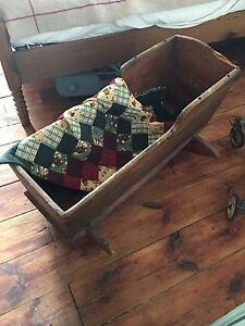 Antique pine cradle