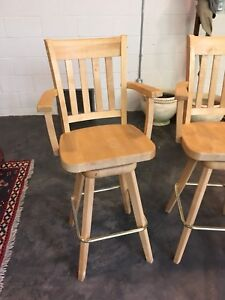Two swivel stools