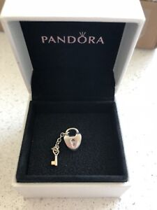 Pandora Key to my heart charm with 14k gold key