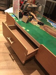 Toy train table set