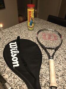 Wilson Lite Tennis Racquet & 4 Tennis Balls
