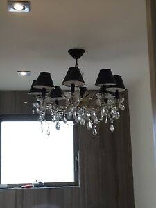 Philippe starck style 8 branch crystal chandelier