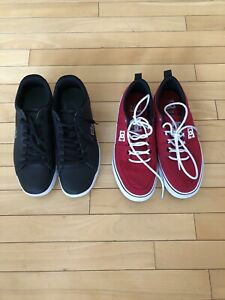 Two pairs of men's shoes-DC and Lacoste