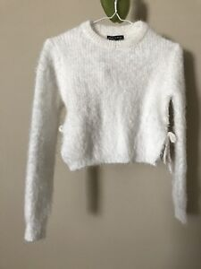 White long-sleeved sweater