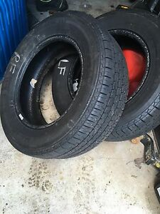Set of 4 winter studded tires and set 2 all season tires