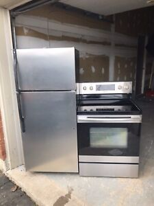 Can deliver/Ge refrigerator Samsung stainless steel stove set