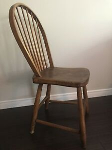 Antique chairs - flat back Windsor (8)