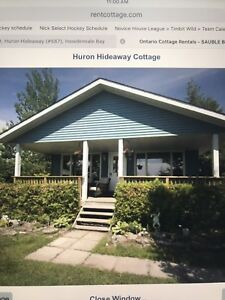 Lake Huron Cottage Rental, South Bruce Peninsula