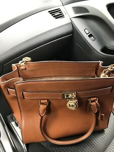 Large Brown Leather Micheal Kors Crossbody