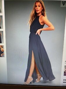 Navy Blue Maxi Dress from Lulus (link in ad)