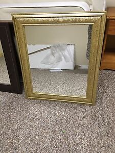 Decorative gold mirror