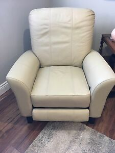 DUTALIER LEATHER ROCKER/RECLINER & OTTOMAN