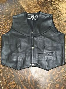 New Lined leather vests