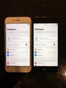 3 iPhones 7 128gb Noir mat, blanc, noir lustré Déverrouillé
