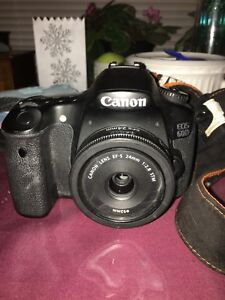 Canon 60d with lens/battery/charger/bag-