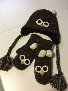 Tuque/mitaines hibou