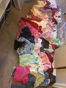 Blue bag full of girls 12-18 month clothes