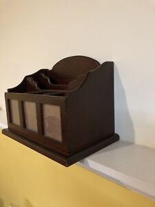 Solid wood organizer box