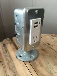 Table top USB/receptacle