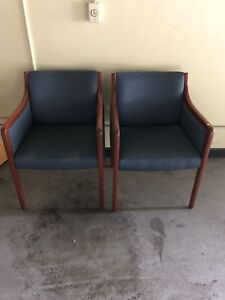 Pair of Used office waiting room chairs