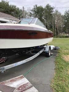Caravelle 18.5 foot boat and trailer