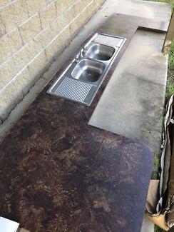 Kitchen bench & sink