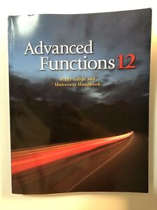 Brand new Grade 12 Advanced Functions Study guide