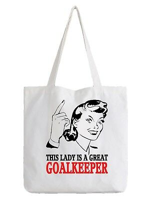 Goalkeeper Ladies Tote Bag Shopper Best Gift Football Soccer Team Sport
