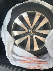 VW Jetta rims and Nokian winter tires