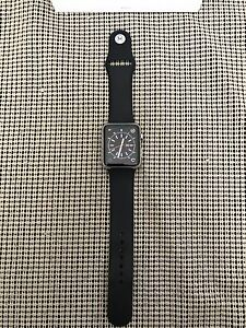 Apple Watch 42mm Gen1 Stainless Steel with Black Sport Band
