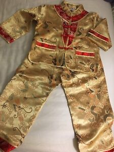 Chinese traditional outfit for boys 5-6 years
