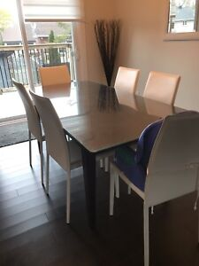 Table with glass top for sale