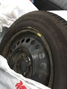 185/ 65R 15 continental true contact tires on rims