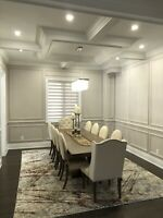 COFFERED WAFFLE CEILING WAINSCOTING TRIMS CROWN MOULDINGS