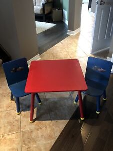 KIDS CARS TABLE AND CHAIRS!!!!
