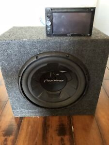 Subwoofer,amp and touch screen deck