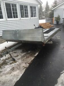 2004 Northtrail double wide sled trailer