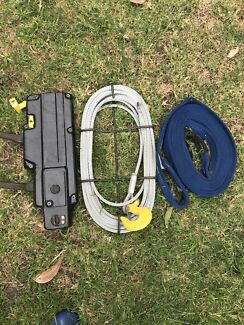 Winch ,cable, tow strap