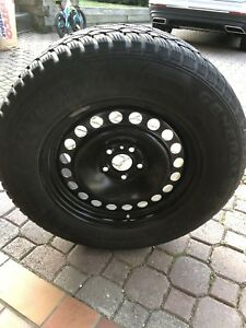 Ford Explorer winter tires/rims with tire pressure monitors.