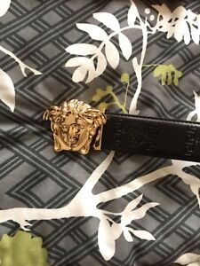 Black and Gold Versace Belt