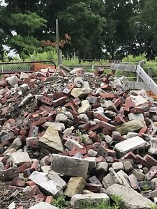 red brick and cement blocks ** free**