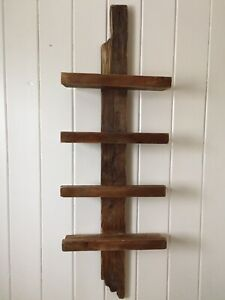 Rustic towel or bottle shelf.  Made from reclaimed wood.