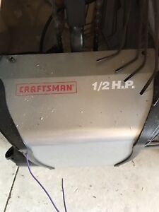 Craftsman garage door opener 1/2 h.p.