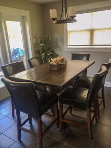 Bar Height Dining Table with Chairs