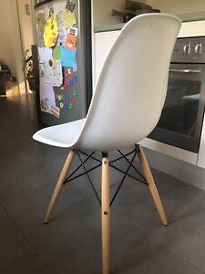 5 Replica Eames chairs