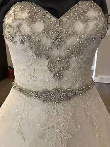 A LINE BALL GOWN WEDDING DRESS (never worn)