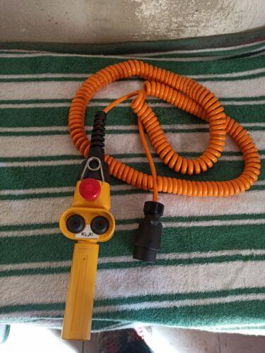 Hängetaster Kran Steuerung mit Spiralkabel Steuerschalter seilwinde