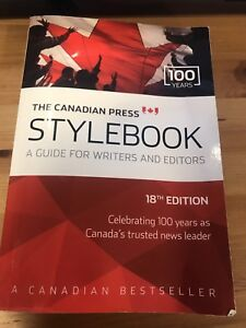 """The Canadian Press """"Stylebook guide for writers and editors"""""""