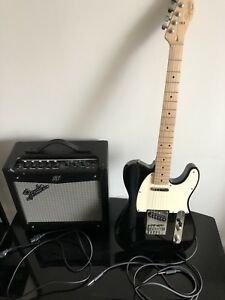 Squier By Fender Affinity Electric Guitar With Amp