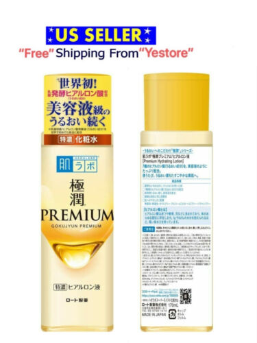 New Rohto Hada Labo Gokujyun PREMIUM Hyaluronic Acid Moisture Serum Lotion 170ml